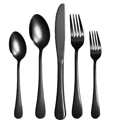 Nice kitchen Silverware 45 Piece Stainless Steel Flatware Cutlery Serving Set