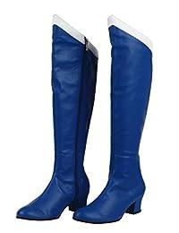 Mtxc Women's Sailor Moon Cosplay Ami Mizuno Mercury Shoes 1st Blue