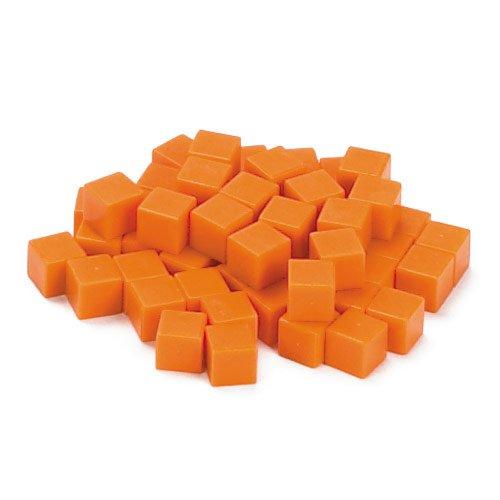 EAI Education Base Ten Units: Orange Plastic - Set of -