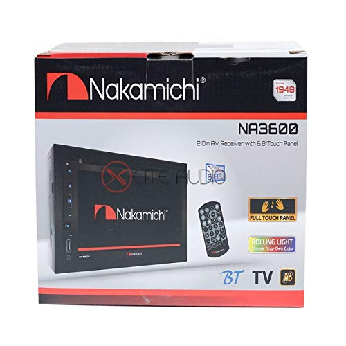 Nakamichi NA3600 Wvga 2-Din Full HD Bluetooth/USB/MP3/Wma/Aux for sale  Delivered anywhere in USA