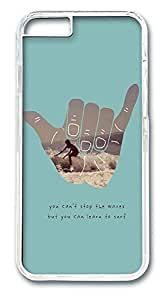 iPhone 6 Cases, Learn To Surf Protective Case with Aesthetic Print Hard Back Cover for iPhone 6(4.7inch)[Scratch-Resistant] [Perfect Fit] [Anti-Slip] [Good Grip] Polycarbonate Plastics Transparent by Maris's Diary