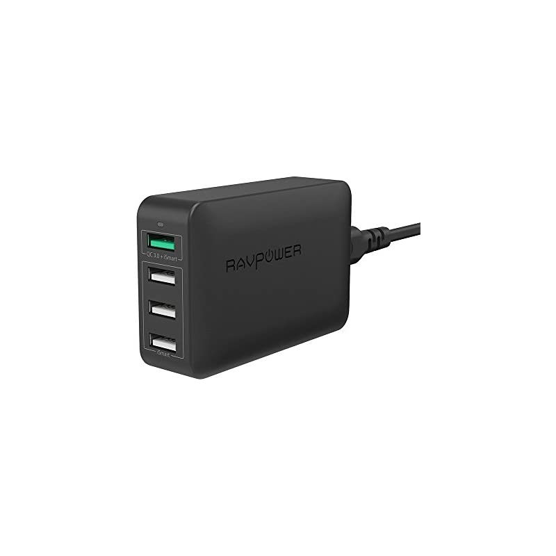 USB Fast Charger RAVPower 40W 4-Port QC