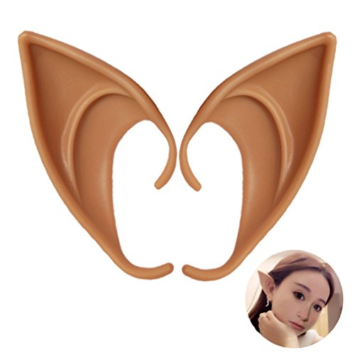 UVEEFUN Cosplay Halloween Elf Ears Costume Ears Tips Prosthetic Manga Hobbit( Color 3#) ()