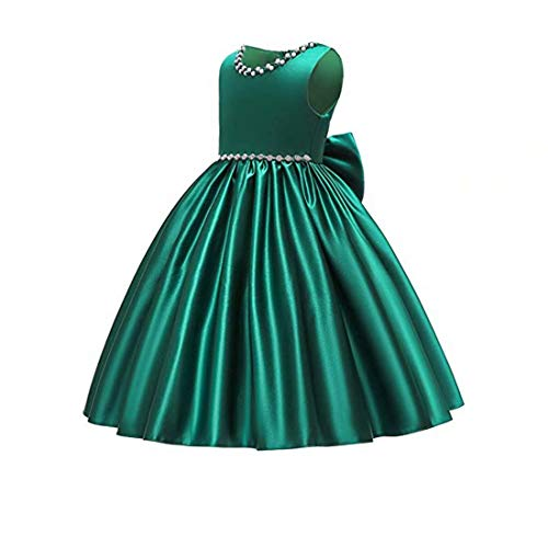 (Xmas Dress for Girls Size 9 10 Teen Sleeveless Tank Sundress Flower Girls Dresses for Wedding Birthday Pageant Prom Party Green Beautiful Dresses Sleeveless Girl Dress Size 7-16 Frocks()