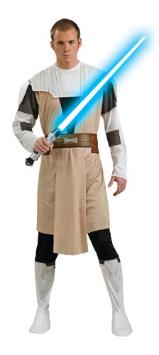 Kenobi Costume Wan Obi Adults (Rubie's Costume Men's Star Wars Clone Adult Obi-Wan Kenobi, Multicolor,)
