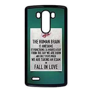LG G3 Cell Phone Case Black The Human Brain SLI_555276