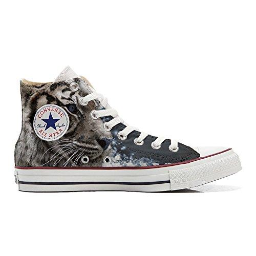 blauen Handwerk Schuhe Customized Star Schuhe Converse personalisierte Augens All Tiger Hi gXqSxWwzWY