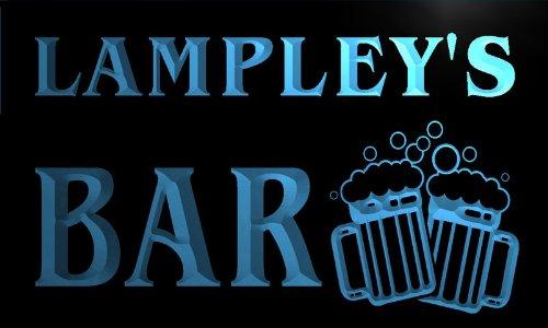 Cartel Luminoso w009378-b LAMPLEY Name Home Bar Pub Beer Mugs Cheers Neon Light Sign Iluminación de interior Iluminación de interior
