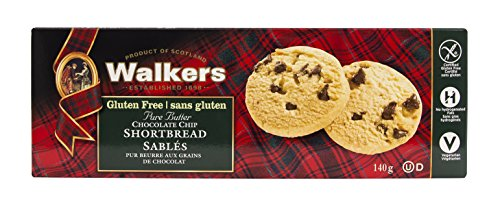 (OfficeSnax OFX01021 Walkers Gluten-Free Chocolate Chip Shortbread, Brown)