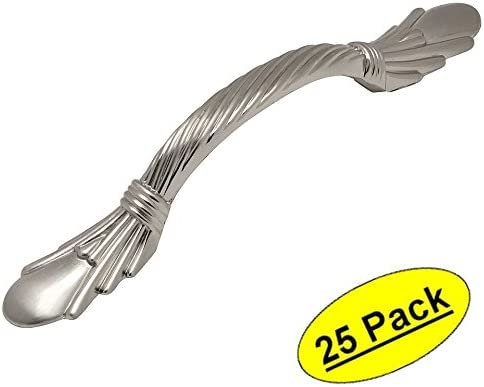25 Pack 3 Hole Centers Cosmas 7681SN Satin Nickel Cabinet Hardware Handle Pull