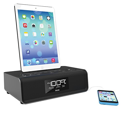 iHome iDL43B Charging Stereo with USB Charge/Play