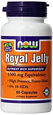 NOW Foods Royal Jelly 1500mg, 60 Capsules