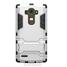 LG G4 Case, Cocomii® [HEAVY DUTY] Iron Man Case :::NEW::: [ULTRA WAR ARMOR] Premium Shockproof Kickstand Bumper [MILITARY DEFENDER] Full-body Rugged Dual Layer Cover for LG G4 ★★★★★ (Silver)