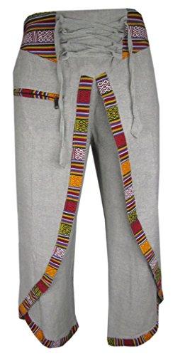 Little-Kathmandu-Cotton-Hemp-Wrap-Casual-Karate-Yoga-Hippie-Boho-Pants-Trousers