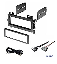 Asc Car Stereo Dash Install Mount Kit & Wire Harness Combo To Install A Single Din Aftermarket Radio For Some 1984-2002 Chrysler Dodge Jeep Plymouth Vehicles