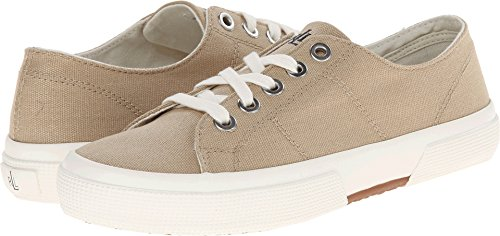 Lauren Ralph Lauren Women's Jolie Fashion Sneaker, Khaki Solid Canvas, 7.5 B (Khaki Canvas Footwear)