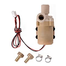 XCSOURCE® Solar DC 12V Hot Water Circulation Pump Brushless Motor Water Pump + 2 x Copper fittings(10mm outer diameter) +2 x Stainless steel clamps 3M New TE089