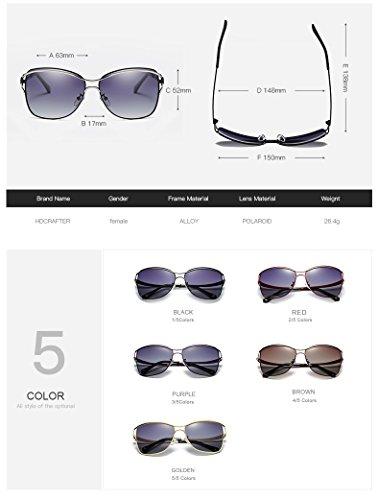 élégantes Lunettes Soleil Eyewear encadrées Outdor Adultes de Femmes de Accessoires de Soleil Mode Dames Larged Purple Lunettes polarisées Femmes XZP aIEqdI