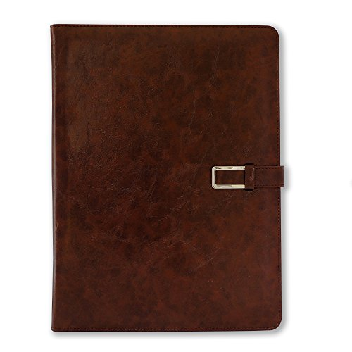 Professional Business Padfolio/Resume Portfolio Folder with Letter Size Writing Pad, Premium Leather Look and Feel