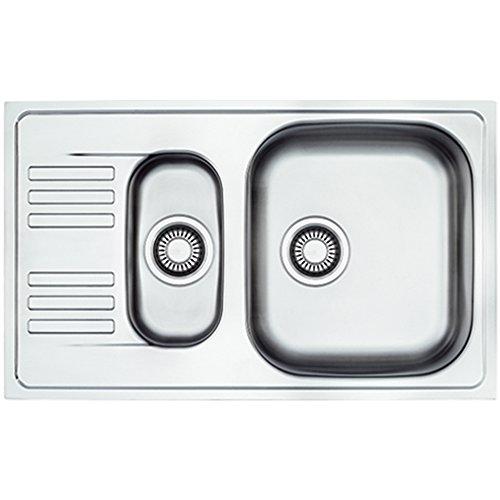 Franke 101.0060.613 EFL 651-78 Stainless Steel Single/Half Bowl Kitchen Sink - Grey by Franke