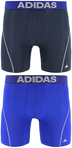 adidas Men's Sport Performance Climacool Boxer Briefs Underwear (2-Pack), (Urban/Light Onyx)/(Bold Blue/Light Onyx), Large