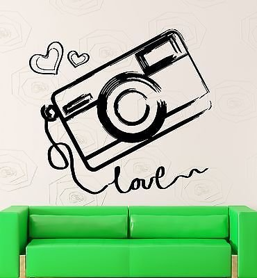 Wall Sticker Vinyl Decal Camera Photography Love Art Decor VS2046