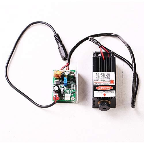 Ensfouy Blue Laser Module 405nm/450nm 500mW 2500mW 5000mW 5500mW Laser Head + Heatsink Cooling Fan DIY Focusing Laser Cutter CNC (5500mW)