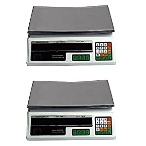 2 Digital Deli Weight Scales Price Computing Food Produce 60LB ACS-03