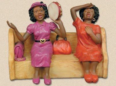 African American Church Pews Figurines Hallelujah #3