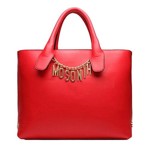 Chocolate Crocodile Faux Leather (HNYEVE HB1200004C5 Fashion PU Leather Business Women's Handbag,Vertical Section Square Saddle Bag)
