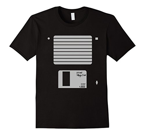 Floppy Disk Halloween Costume (Mens USB Floppy Disk Geek Computer Nerd Halloween Costume T-Shirt XL Black)