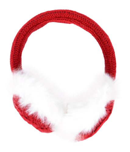 Simplicity Women's Knitted Plush Earmuffs for the winter, Lined Trim, Acrylic