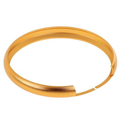 MonkeyJack ALUMINUM RING TRIM FOR BMW MINI COOPER SMART KEY ENTRY FOB KEYCHAIN - Gold
