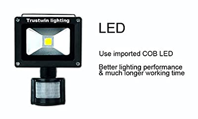 Warm White, 30W : 85 to 265V 110V 220V 12V 10W 20W 30W 50W Outdoor PIR LED floodlight flood light with motion sensor with detector with inductor