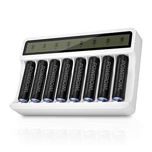 cargador para 8 baterias Powerowl 2800mah AA
