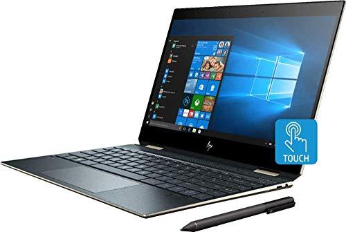 "2019 HP Spectre x360 13t Gem Cut with 13.3"" 2 in 1(i7 8565U, FHD IR Cam, HP Pen, 3 Yr McAfee Internet Security, Windows 10 PRO Upgrade,HP Worldwide Waranty(16G+512G SSD, Poseidon Blue)"