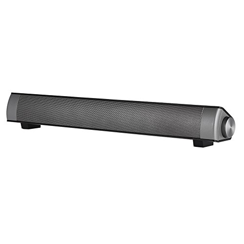 Wireless BT Soundbar,Subwoofer Stereo Speaker Home Theater Music Player with Remote Control Hands-Free TF Card Slot AUX-IN,Black by Walmeck