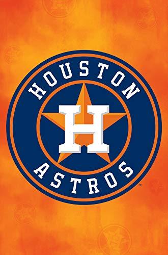 (Trends International Houston Astros-Logo Mount Bundle Wall Poster 22.375