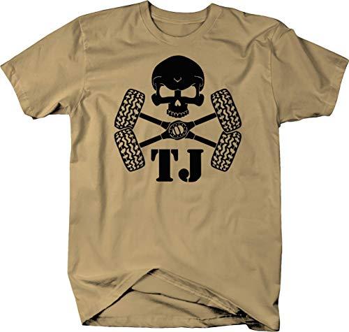 Skull Crossbones Tires & Axles Jeep Wrangler TJ Color Tshirt - ()