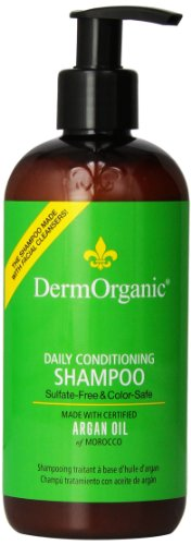 DermOrganic Daily Conditioning Shampoo with Argan Oil - Sulfate-Free & Color-Safe, 12 fl.oz