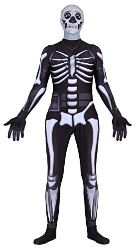 Riekinc Halloween Spandex Zentai Cosplay Costume Skull Trooper Costume Adult/Kids for $<!--$45.99-->