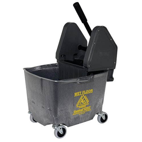 Down Press Bucket/Wringer Combo, 35 Qt, Yellow ()