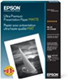 Epson Ultra Premium Presentation Paper MATTE (8.5x11 Inches, 50 Sheets) (S041341)