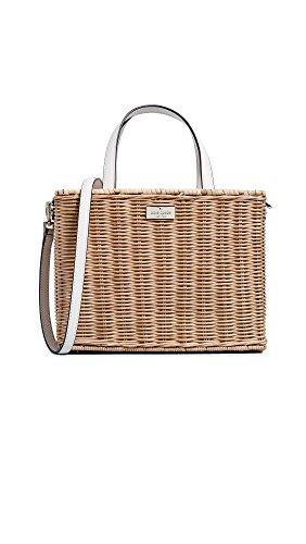 Women's Straw Sam Tote Bag, Natural Bleach, One Size (Summer Spades)