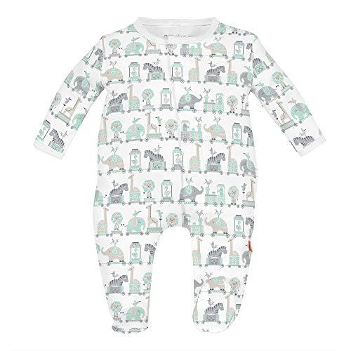 Magnetic Me Footie Pajamas 100% Organic Cotton Baby Sleepwear Quick Magnetic Fastener Sleeper