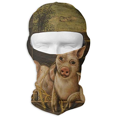 (Balaclava Creative Art Oil Painting Animal Pig Head Tapestry Full Face Masks Ski Sports Cap Motorcycle Hood For Cycling Sports)