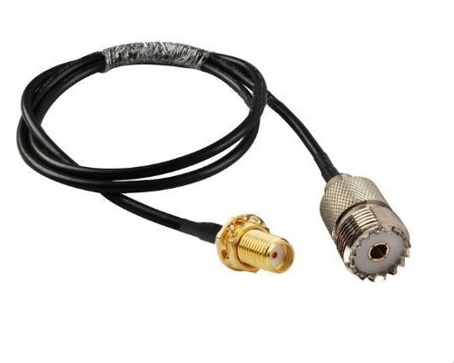 RF Coaxial Cable SMA Female to UHF SO239 PL259 Female RG58 3FT ()