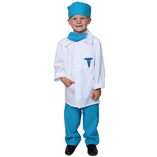 Storybook Wishes Doctor Deluxe Costume Set (Choose Color and Size) (2/4, Blue)