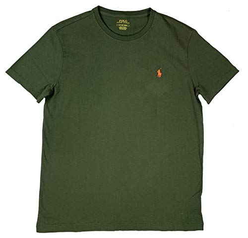 (Ralph Lauren Men's Pony Logo T-Shirt (Small, Green Armadillo))