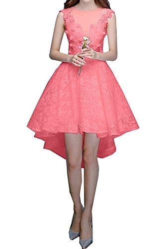 La lo Wassermelon Abendkleider Rock Brautjungfernkleider Lilac Marie Hi Spitze Damen Kurzes Braut Linie A Cocktailkleider qAnwHrqB